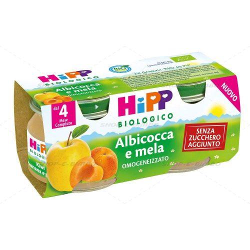hipp albicocca e mela 2x80g