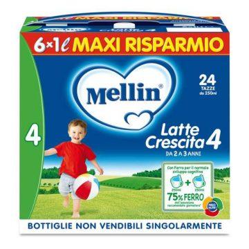 Mellin latte crescita 4 6x1lt