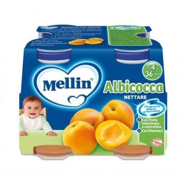 Mellin nettare albicocca 4x125ml