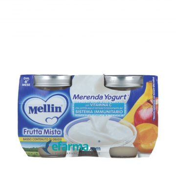 Merenda frutta mista e yogurt 2x120g