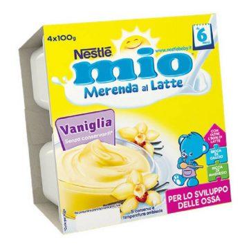 Mio merenda vaniglia 4x100g