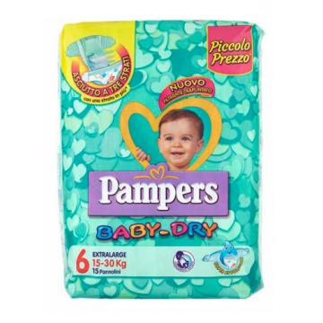 Pampers BabyDry Misura 6