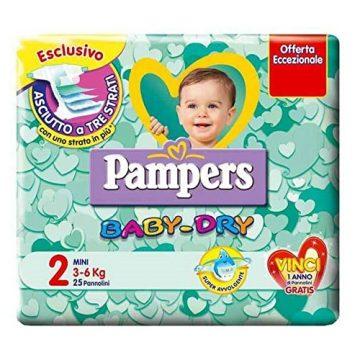Pampers BabyDry Misura 2