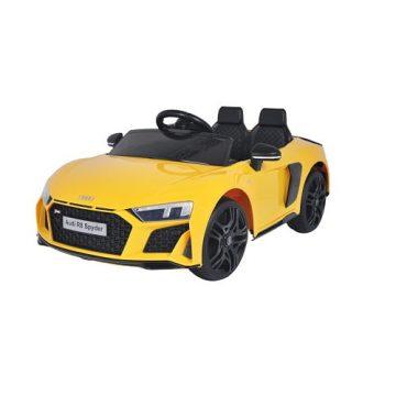 Auto Elettrica Audi R8 Spyder Gialla