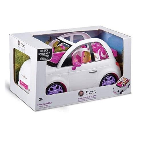 fiat 500 bianca auto fashion per bambole