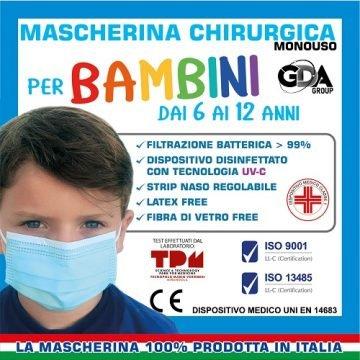 Mascherina chirurgica bimbo 10pz