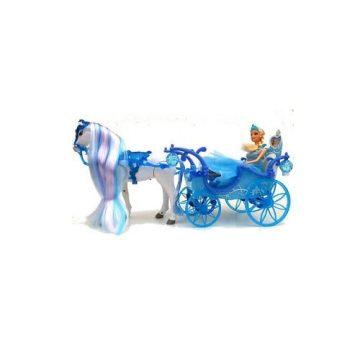 Principessa dei ghiacci con carrozza