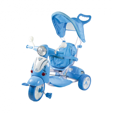 Triciclo Vespino Hornet Azzurro 2in1