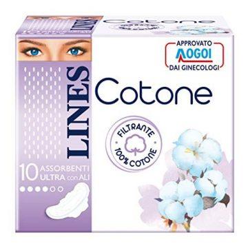 Lines cotone ultra con ali 10pz