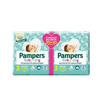Pamper Baby Dry Duo 3° 40pz